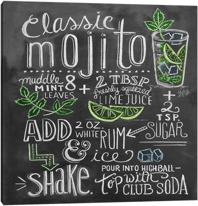 Classic Mojito Recipe Canvas Art Print
