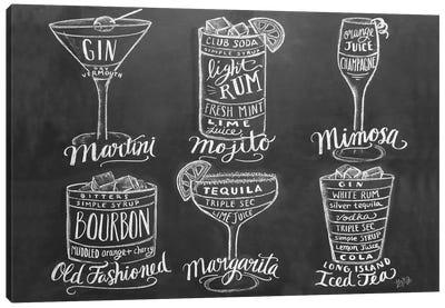 Cocktail Group Canvas Art Print