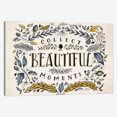 Collect Beautiful Moments Canvas Print #LLV51} by Lily & Val Canvas Print