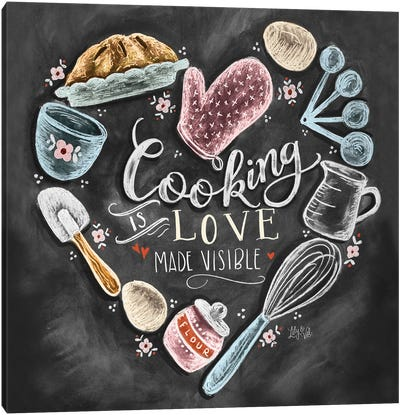 Cooking With Love Heart Canvas Art Print