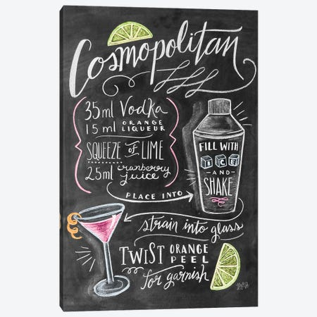 Cosmo Recipe Canvas Print #LLV59} by Lily & Val Canvas Print