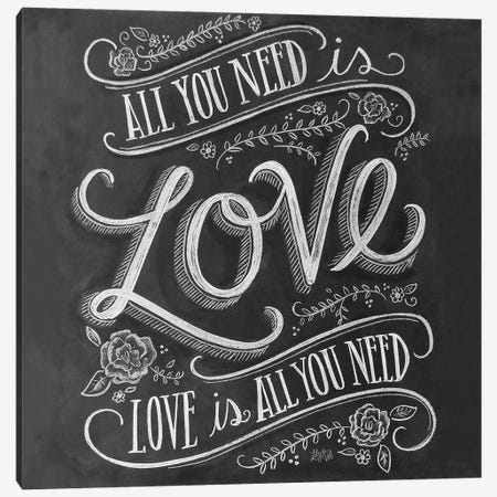 All You Need Is Love 3 Canvas Print #LLV5} by Lily & Val Canvas Print