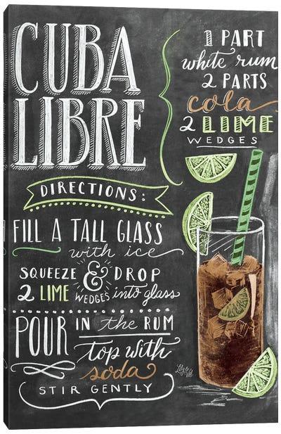 Cuba Libre Recipe Canvas Art Print