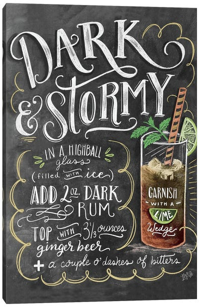 Dark And Stormy Recipe Canvas Art Print