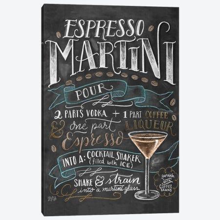 Espresso Martini Recipe Canvas Print #LLV68} by Lily & Val Canvas Artwork