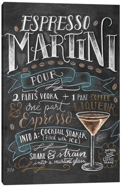 Espresso Martini Recipe Canvas Art Print