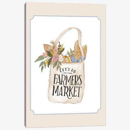 Farmers Market Bag Canvas Print #LLV69} by Lily & Val Canvas Art