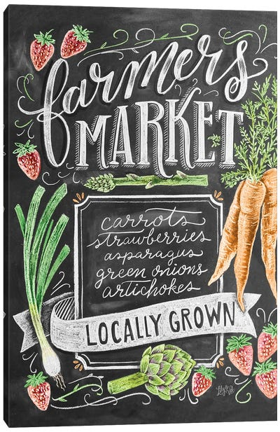 Farmers Market Locally Grown Canvas Art Print