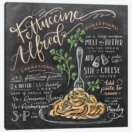 Fettuccine Alfredo Recipe 3-Piece Canvas #LLV71} by Lily & Val Canvas Art Print