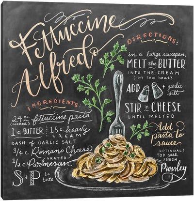 Fettuccine Alfredo Recipe Canvas Art Print