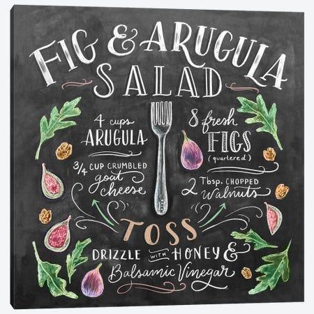 Fig And Arugula Salad Recipe Canvas Print #LLV72} by Lily & Val Canvas Art Print