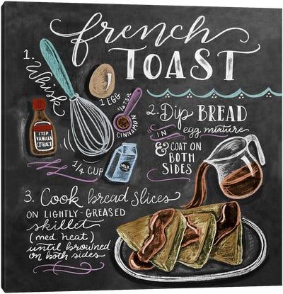 French Toast Recipe Canvas Art Print