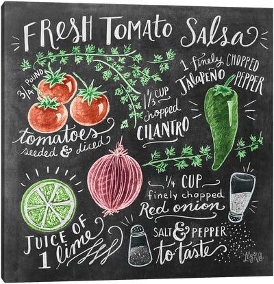 Fresh Tomato Salsa Recipe Canvas Art Print