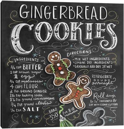 Gingerbread Cookies Recipe Canvas Art Print
