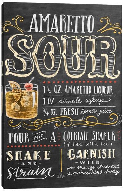 Amaretto Sour Recipe Canvas Art Print