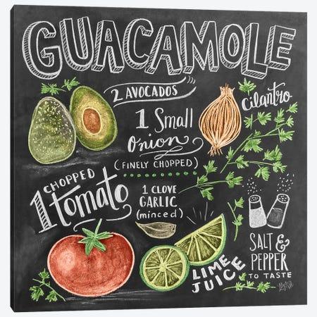 Guacamole Recipe 3-Piece Canvas #LLV85} by Lily & Val Canvas Print