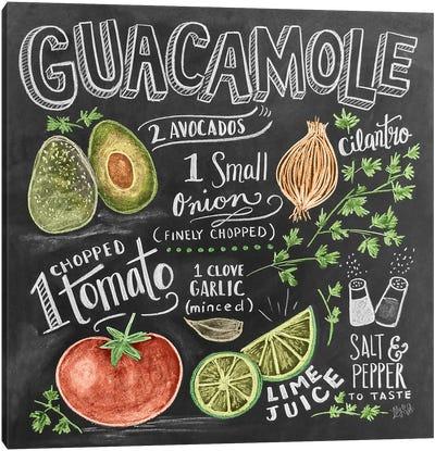 Guacamole Recipe Canvas Art Print