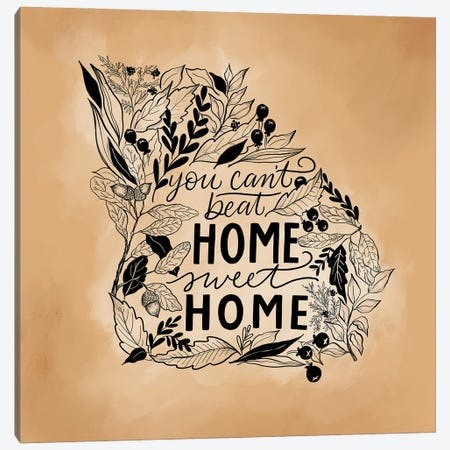 Home Sweet Home - Georgia - Color Canvas Print #LLV97} by Lily & Val Canvas Wall Art