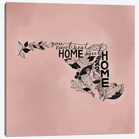 Home Sweet Home Maryland - Color Canvas Print #LLV99} by Lily & Val Canvas Print
