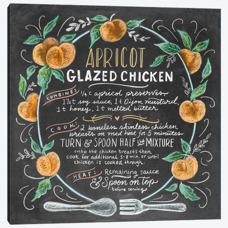 Apricot Glazed Chicken Recipe 3-Piece Canvas #LLV9} by Lily & Val Canvas Artwork