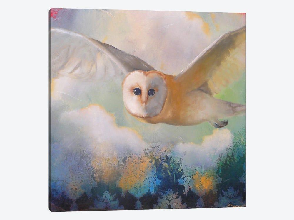Barn Owl In Flight by Lisa Lamoreaux 1-piece Canvas Art Print