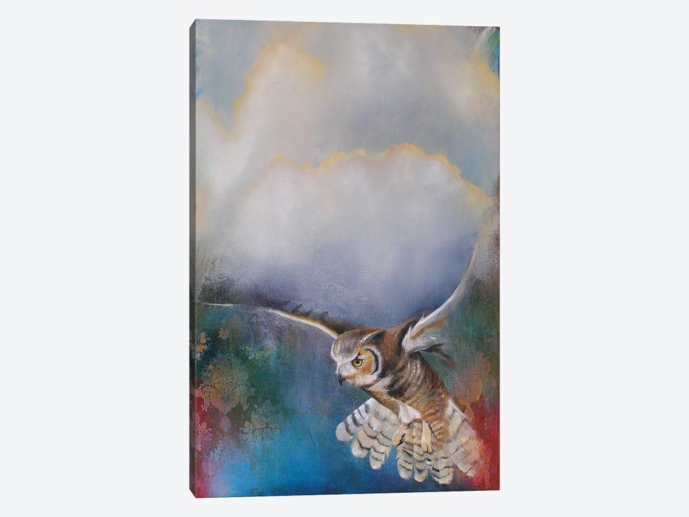 Owl Flying by Lisa Lamoreaux 1-piece Art Print