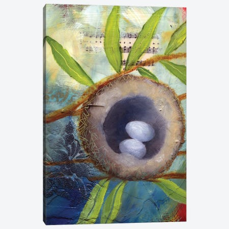 Hummingbird Nest 3-Piece Canvas #LLX18} by Lisa Lamoreaux Art Print