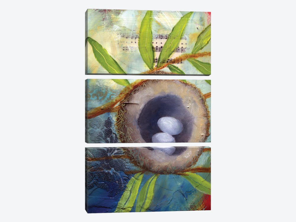 Hummingbird Nest by Lisa Lamoreaux 3-piece Canvas Art