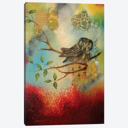 Owl Home Canvas Print #LLX19} by Lisa Lamoreaux Art Print
