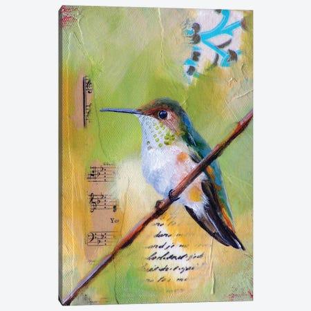 Hummingbird Song Canvas Print #LLX1} by Lisa Lamoreaux Canvas Art