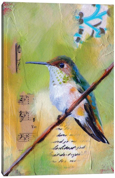Hummingbird Song Canvas Art Print