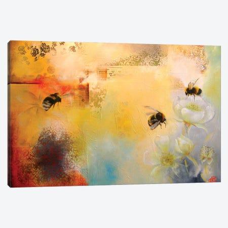 Bee Blossom Canvas Print #LLX20} by Lisa Lamoreaux Canvas Wall Art