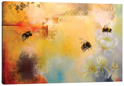 Bee Blossom Canvas Art Print