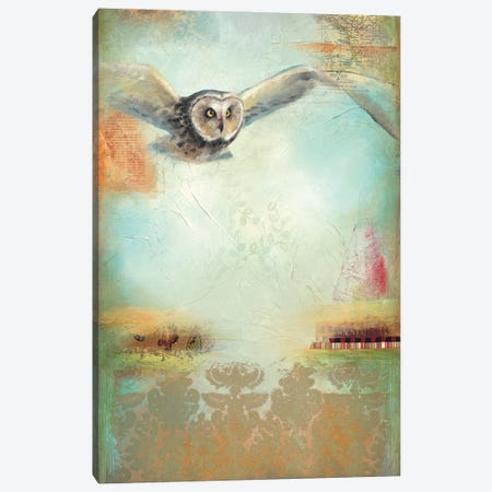 Owl Flight I Canvas Print #LLX21} by Lisa Lamoreaux Canvas Art