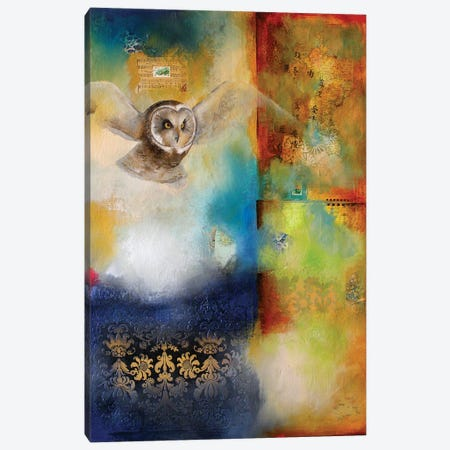 Owl Flight II Canvas Print #LLX22} by Lisa Lamoreaux Canvas Art