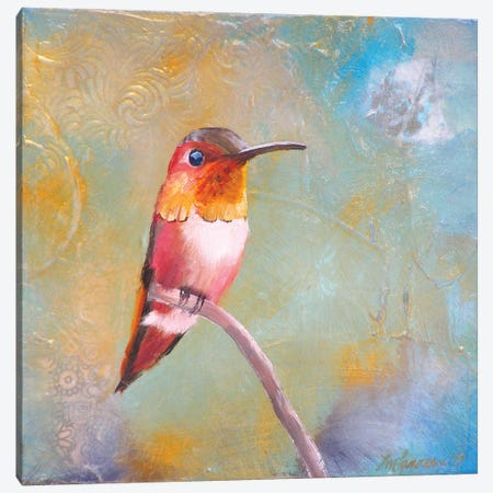 Hummingbird Perch Canvas Print #LLX24} by Lisa Lamoreaux Art Print
