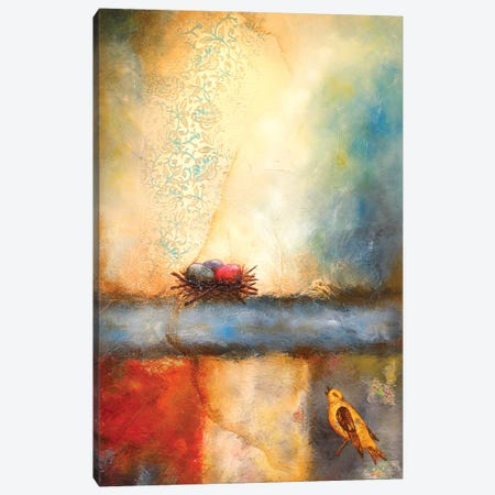 Bird Calling Home Canvas Print #LLX25} by Lisa Lamoreaux Canvas Print