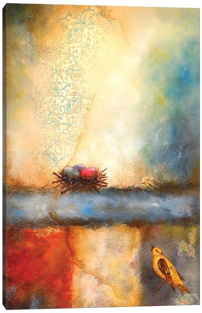Bird Calling Home Canvas Art Print