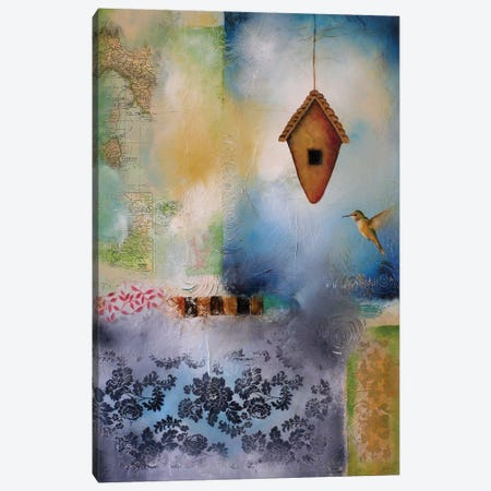 Hummingbird Abode Canvas Print #LLX27} by Lisa Lamoreaux Canvas Art Print