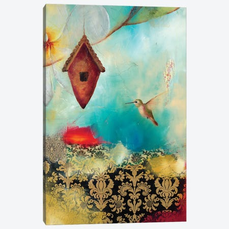 Hummingbird House Canvas Print #LLX4} by Lisa Lamoreaux Canvas Art Print