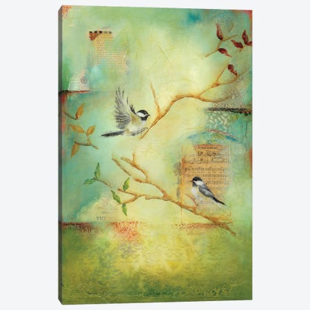 Chickadee Song Canvas Print #LLX5} by Lisa Lamoreaux Canvas Print