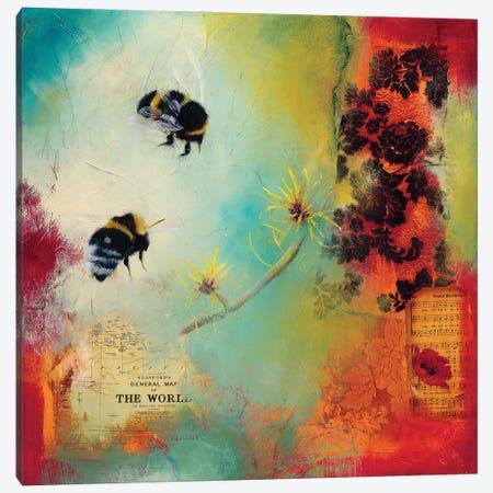 World Bee I Canvas Print #LLX6} by Lisa Lamoreaux Canvas Art Print