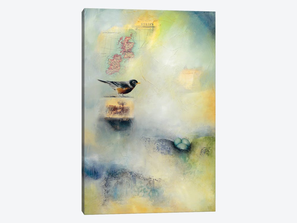 Robin's Nest by Lisa Lamoreaux 1-piece Art Print