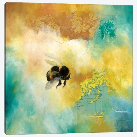 World Bee II Canvas Print #LLX8} by Lisa Lamoreaux Canvas Wall Art