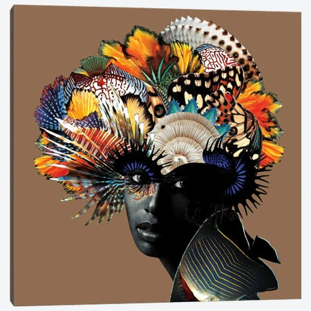 Masquerade Canvas Print #LLZ14} by Lolita Lorenzo Canvas Artwork