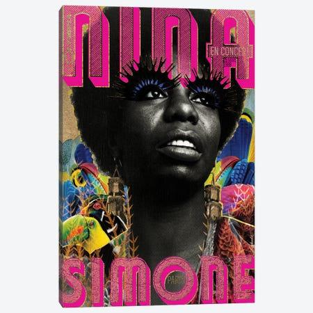 Nina Simone En Concert Canvas Print #LLZ30} by Lolita Lorenzo Canvas Print