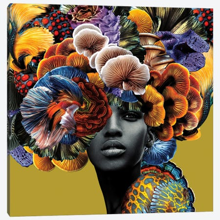 Good Hair Canvas Print #LLZ9} by Lolita Lorenzo Canvas Wall Art