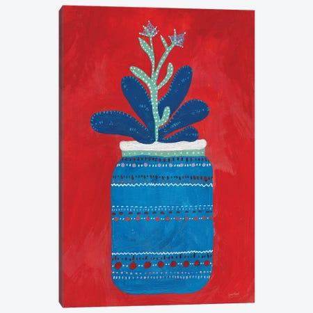 Jar Succulent Canvas Print #LMC1} by Lynn Mack Canvas Print