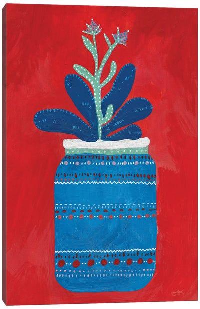 Jar Succulent Canvas Art Print