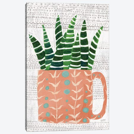 Succulent Cup Neutral Canvas Print #LMC22} by Lynn Mack Canvas Art